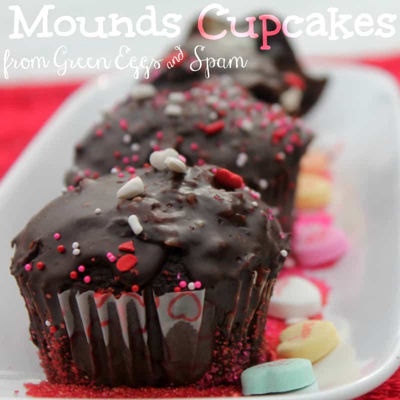 Mounds Valentine's Day Cupcakes