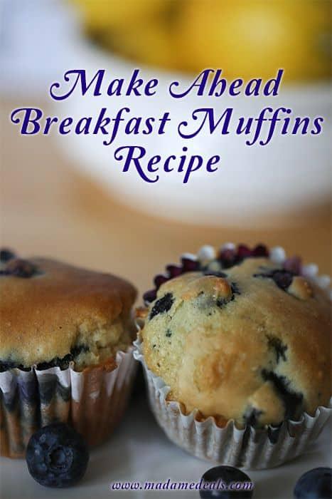 make ahead breakfast muffin recipe