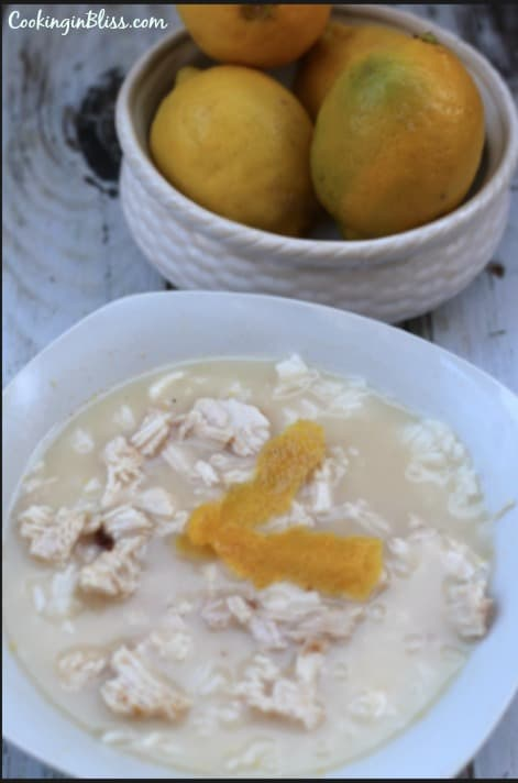 Greek Lemon Chicken Soup Recipe