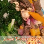Lemon Pepper Steak Stir Fry