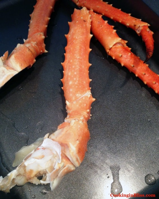 King crab legs for crab rolls sliders.
