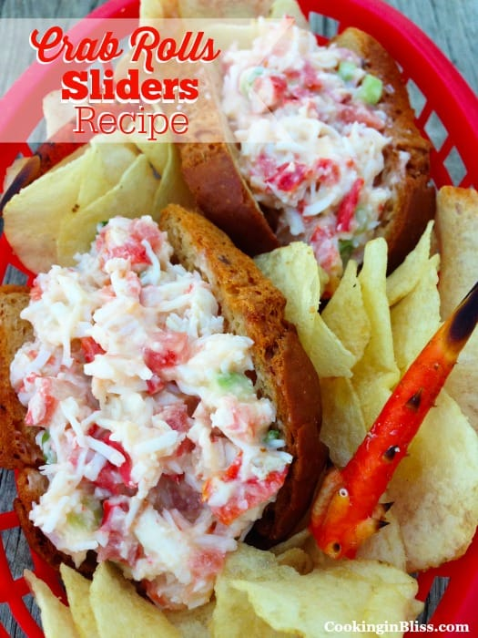 A super delicious Crab Rolls Sliders Recipe. So easy to make and so tasty.