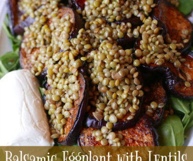 Gluten Free and Dairy Free Easy Eggplant Salad Recipe with Lentils
