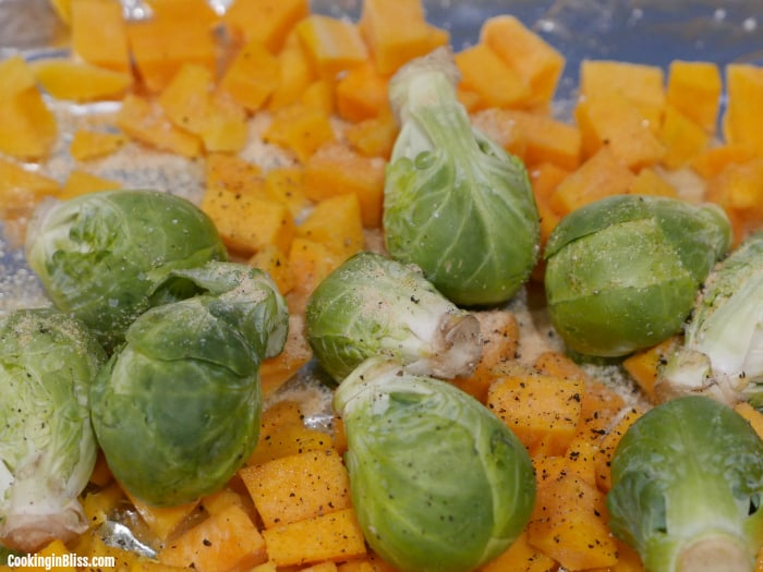 roasted brussels sprouts and butternut squash recipe